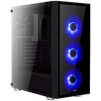 Aerocool Quartz Blue 500W Mid Tower Kasa Siyah