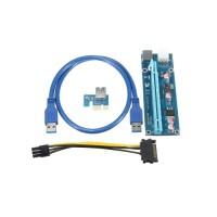 Riser Kart PCI-E 1x to 16x 6pin (Ver: 009S)