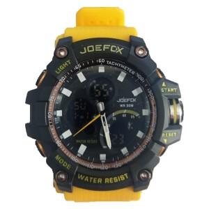 Joefox Sarı Kordonlu Erkek Kol Saati Su Geçirmez