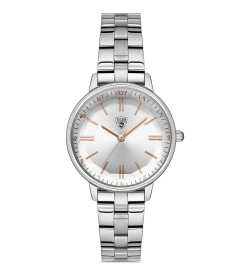 Tiger - Gümüş Renk Çelik Kordon Kadın Kol Saati ( Türkiye Resmi Distribütör Garantili) TI-569-A